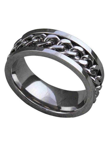 Stainless Steel Chain Wedding Band