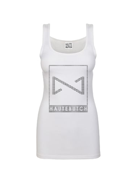 White Deconstructed Bow Tank